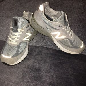 Grey New Balance 990's